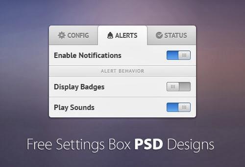 30+ Free Settings Box, Option Panel PSD Designs