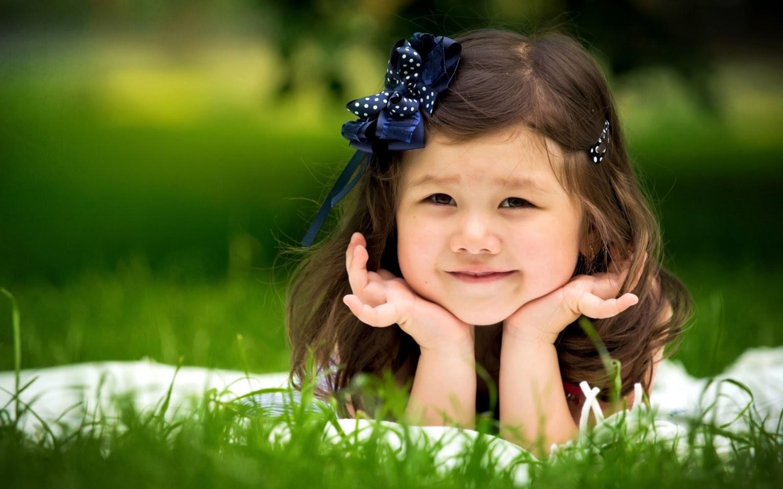 Sweet Girl Smiley Face