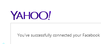 Conectar Yahoo Mail y Facebook