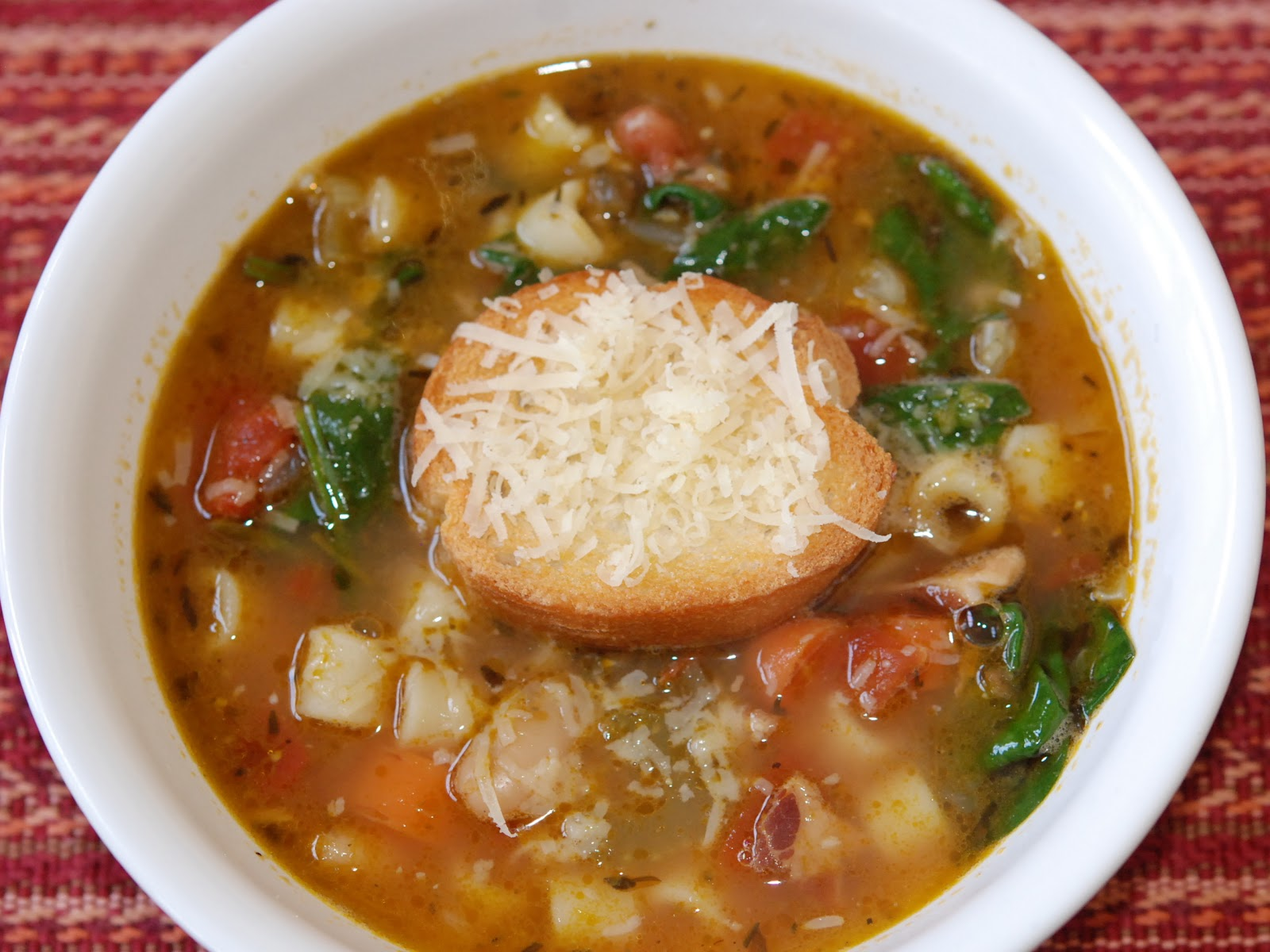 Ina Garten Soup Recipes marys bites: winter minestrone and garlic bruschetta from ina