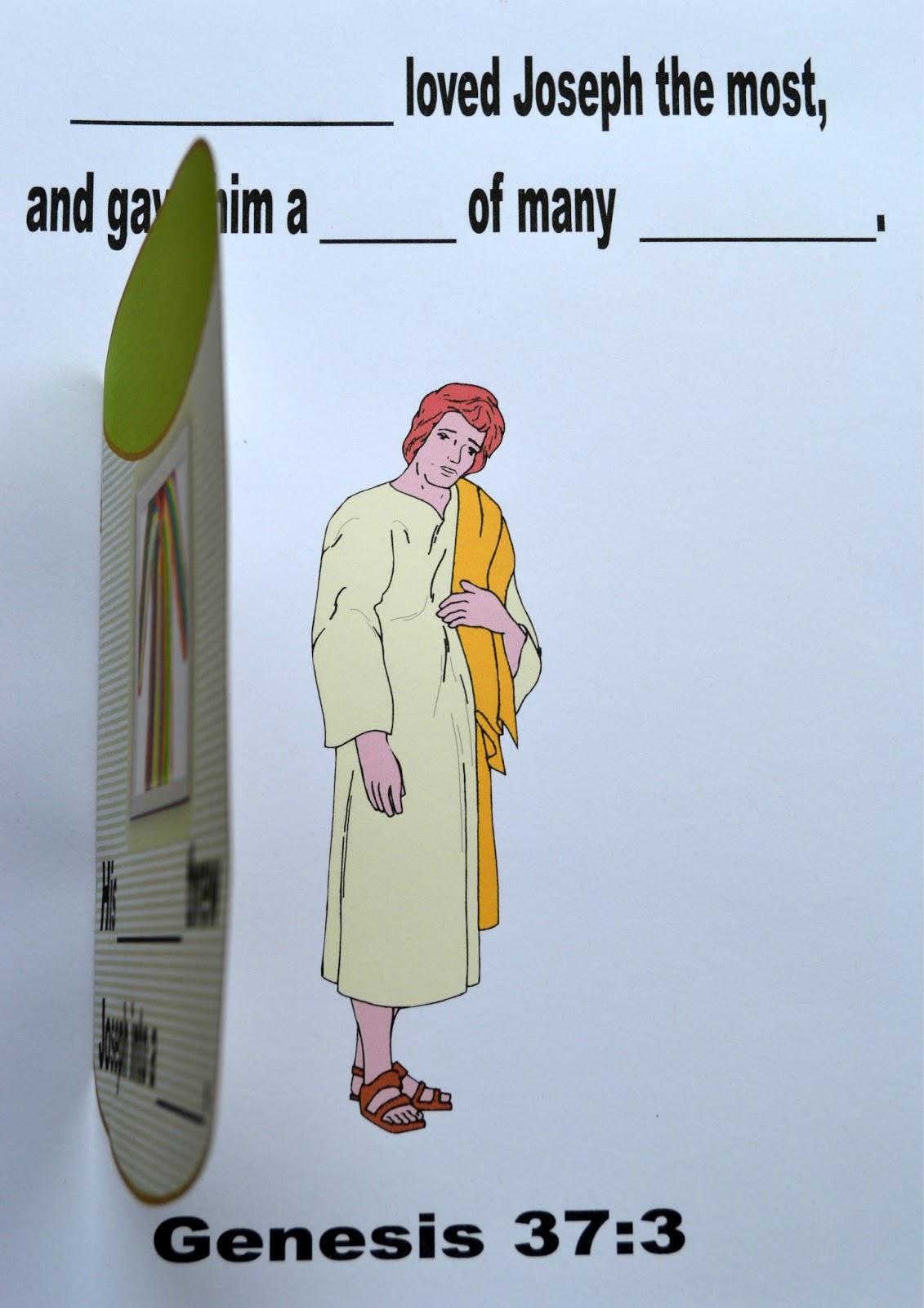 bible fun for kids genesis joseph u0027s dreams and his colorful coat