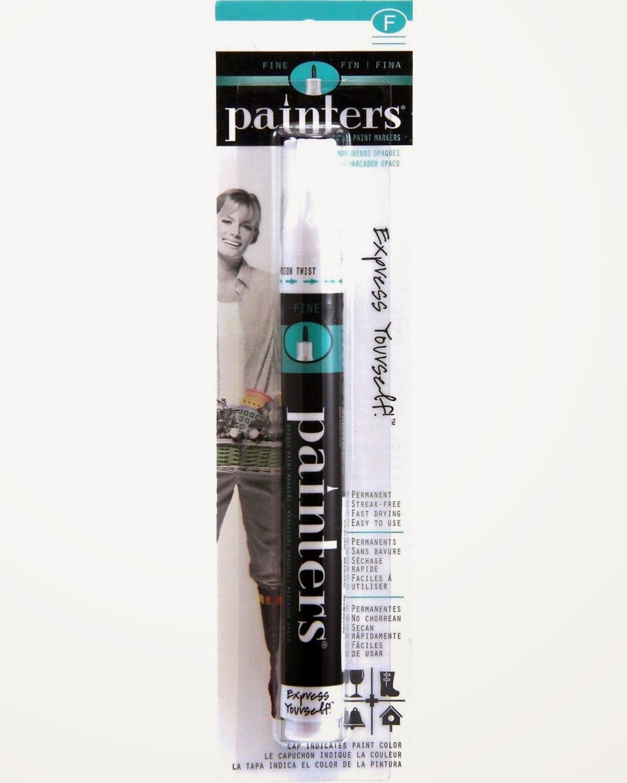 http://www.amazon.com/Elmers-Painters-Opaque-Paint-Marker/dp/B000BRFDVS/ref=sr_1_2?ie=UTF8&qid=1426182209&sr=8-2&keywords=painters+paint+pen+white