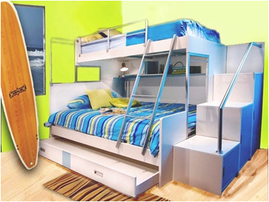 Key interiors by shinay bunk rooms for teenage boys for Cool bunk beds for sale