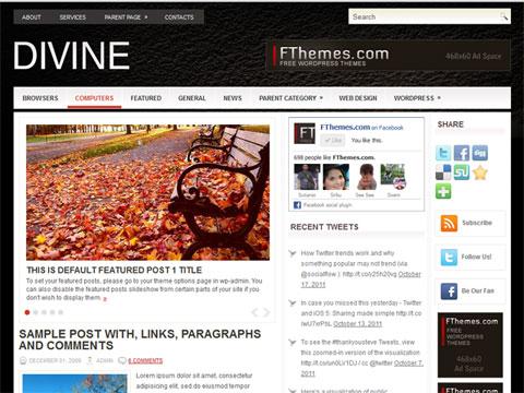 FREE WordPress Theme Divine