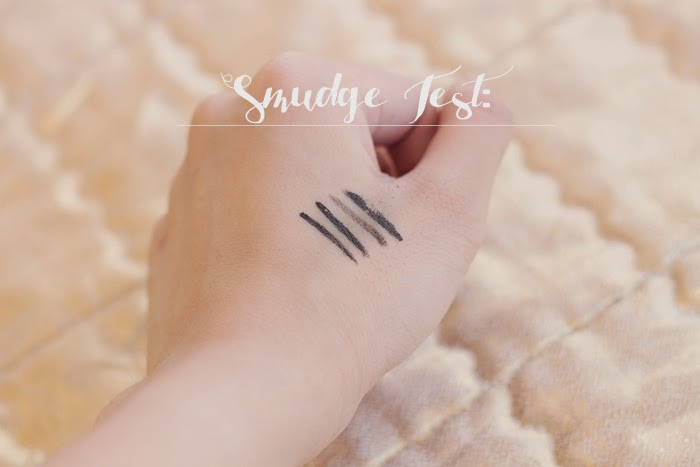 Smudge test of liquid eyeliners Review