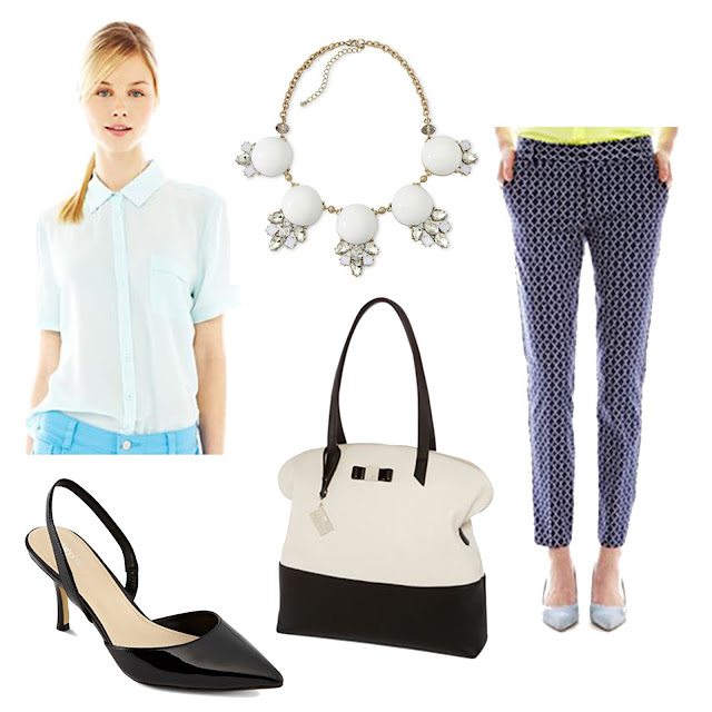 joe fresh, jcpenney, spring, outfit, summer, pants, printed pants