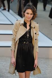 alexa chung wearing a trench coat