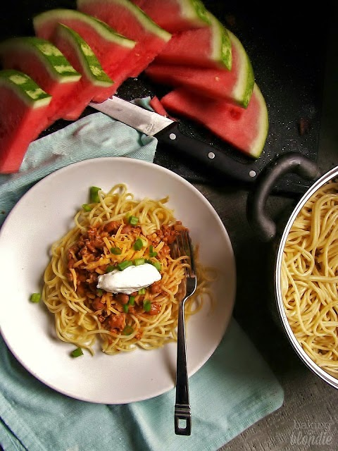 Easy Summer Dinner: Spaghetti With Quick Turkey Chili