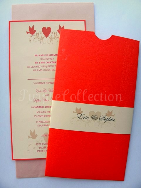 Eric & Sophia's Wedding card, Eric & Sophia, Wedding Card, Pocket Style, Wedding Invitation Cards, Invitation Cards, Wedding, Red carda