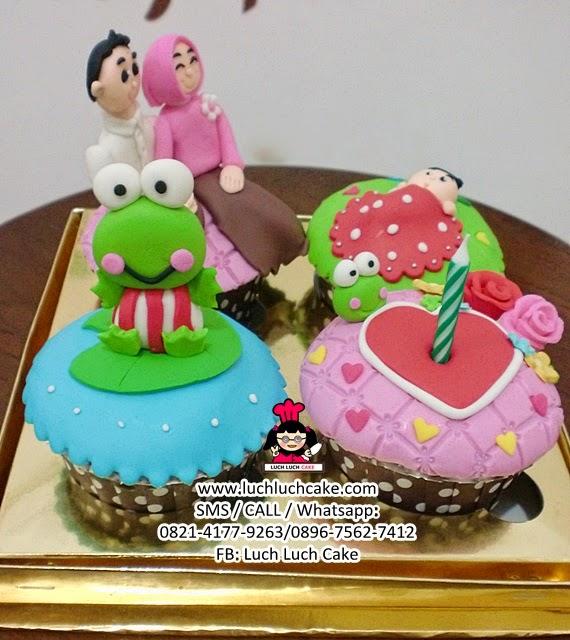 Cupcake Tema Keluarga dan Keroppi (REPEAT ORDER)