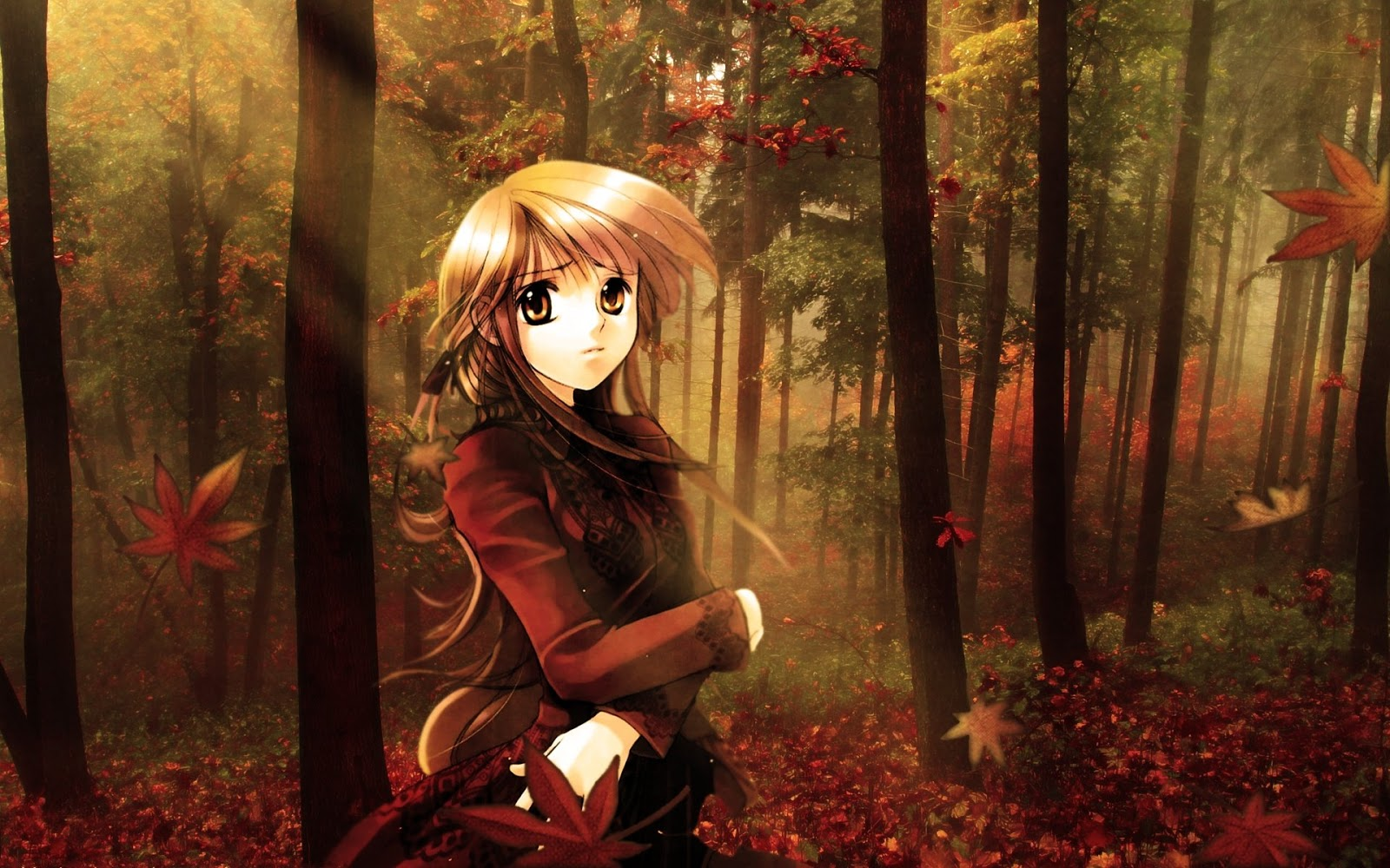 Anime Girl Autumn Fall