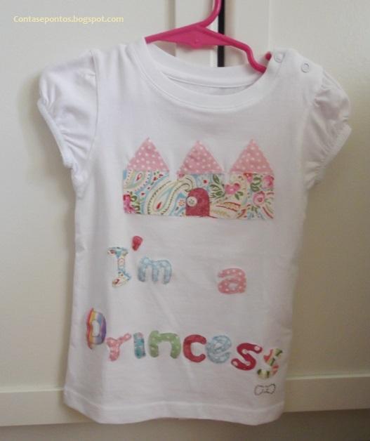 t-shirt criança, aplicações tecido