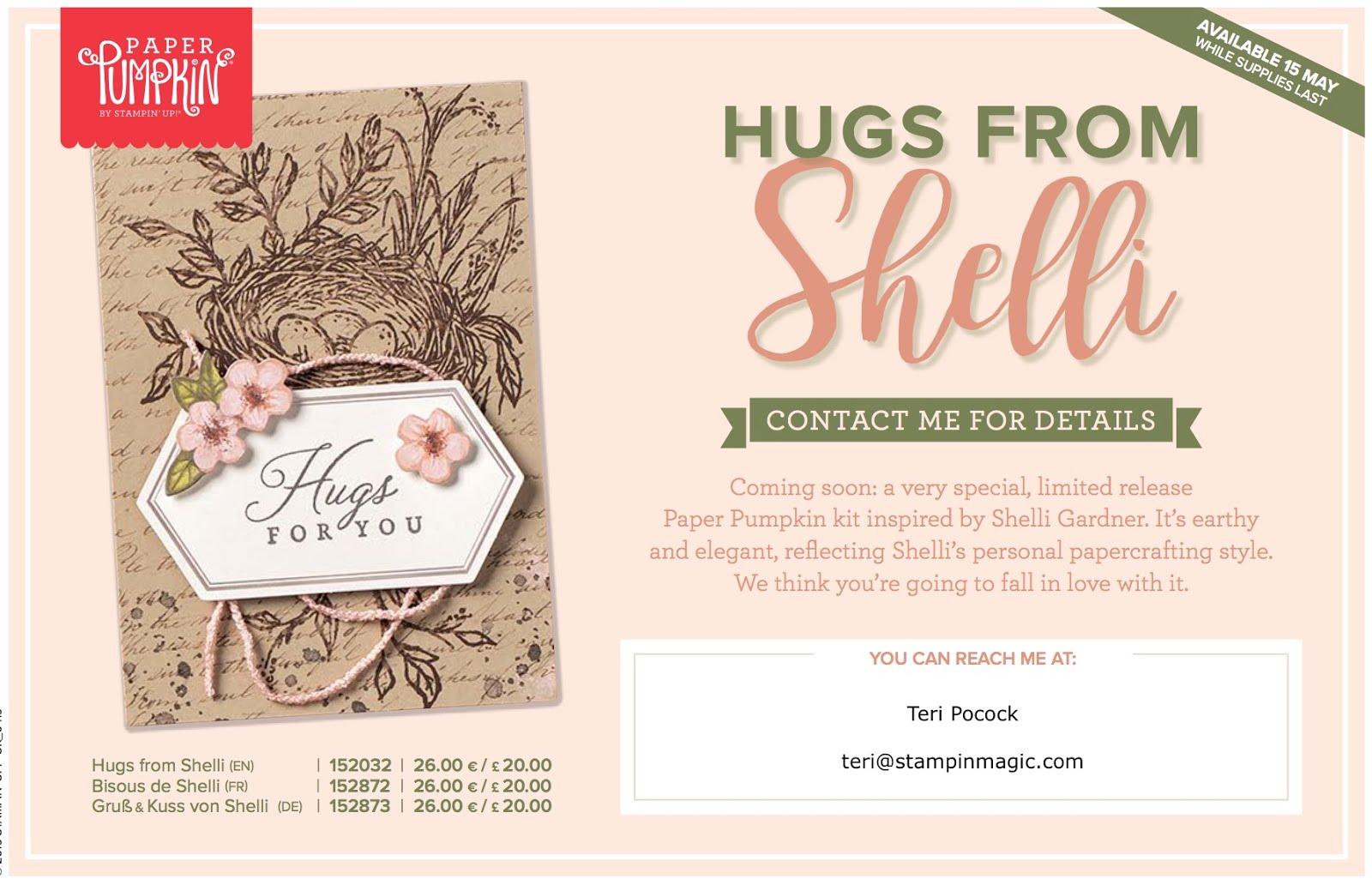 Hugs From Shelli - Paper Pumpkin Kit