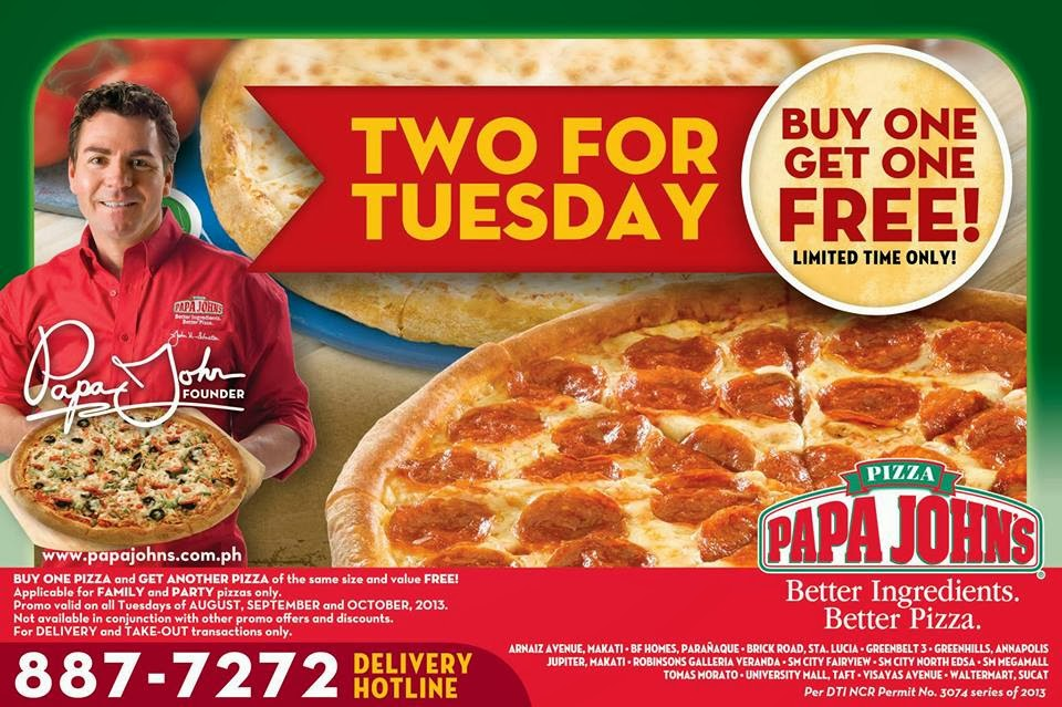 With many Papa John's locations and delivery service you'll enjoy fresh and hot pizza, even from the comfort of your own home. Next time you place an order be sure to use a Papa John's promo code for discounts and special offers. For more savings, check out our Papa John's gift card deals. Savings Tips.