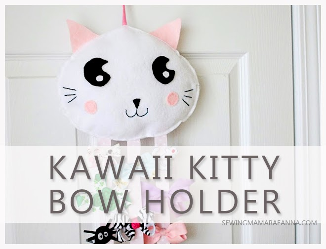 kawaii kitty bow holder tutorial