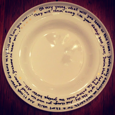 DIY Poetry Plates: Great for Christmas or Birthday Gifts