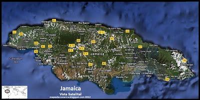 Mapa de Jamaica, Vista Satelital