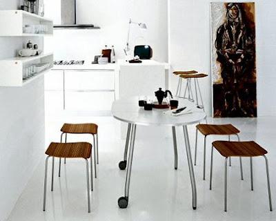 Decoraci n minimalista y contempor nea antecomedor for Decoracion minimalista espacios pequenos