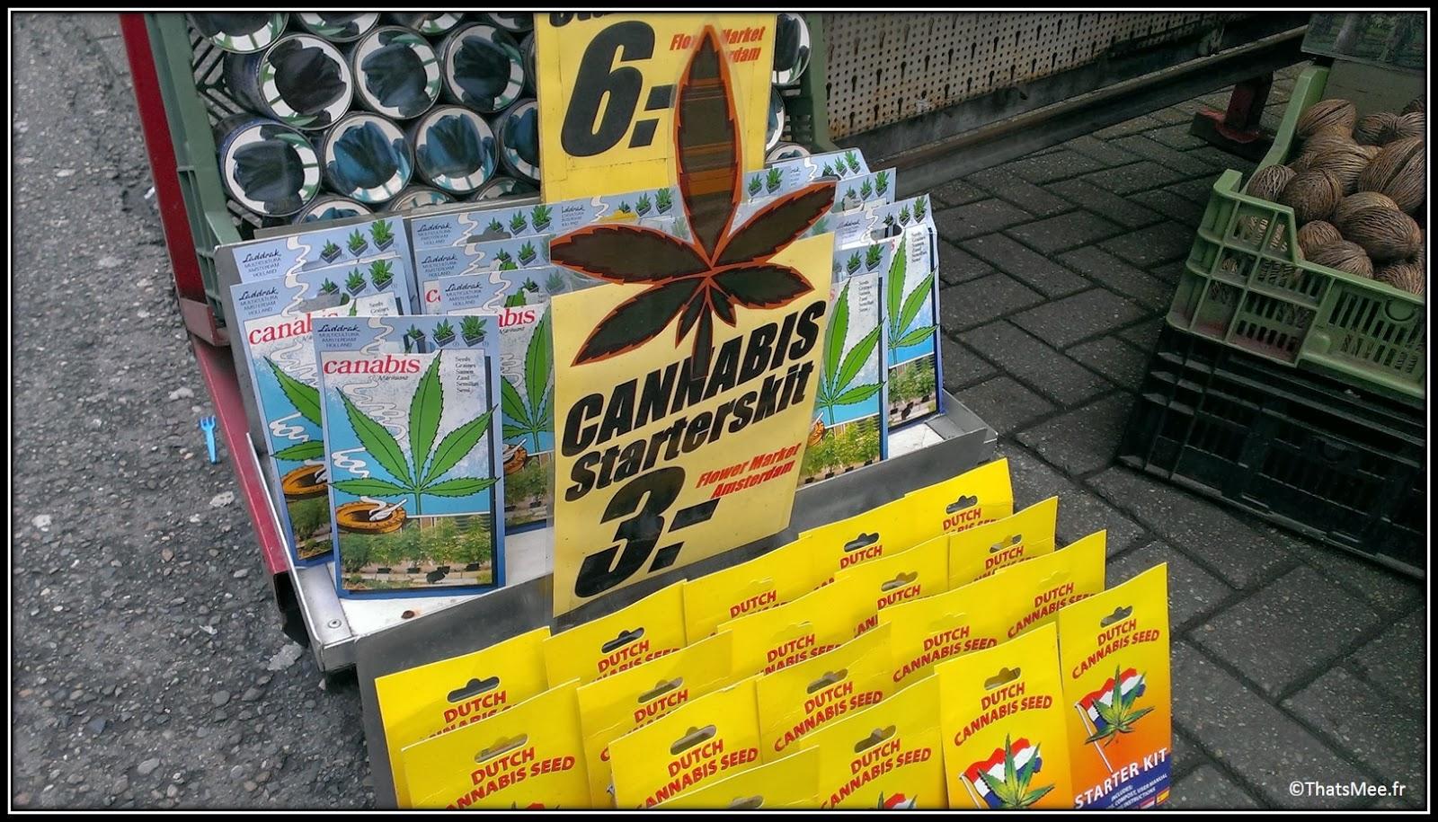 Marché aux Fleurs, Amsterdam cannabis seeds graines