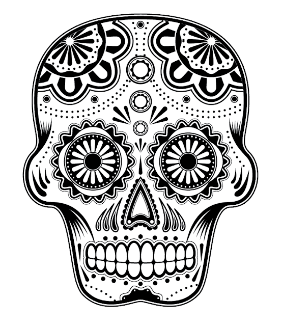 sugar skull designs coloring pages - photo#23