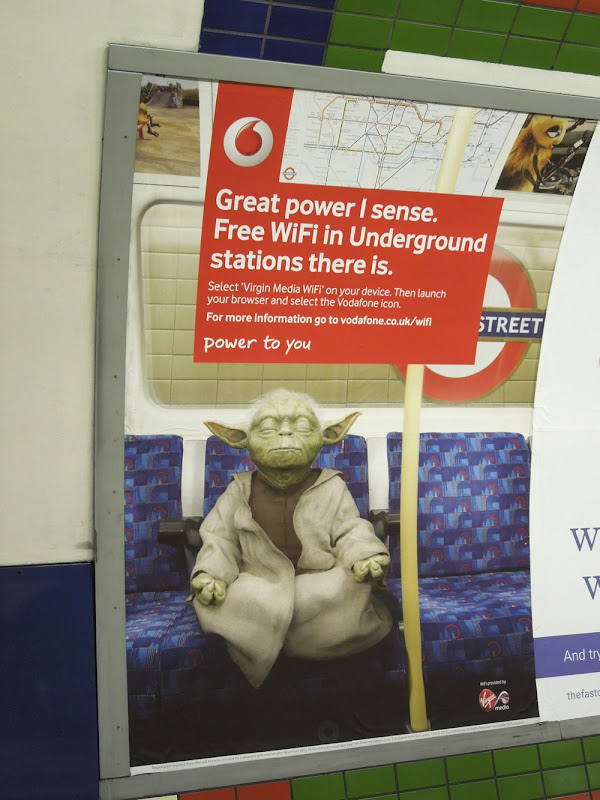 Yoda Vodaphone London Underground poster 2013