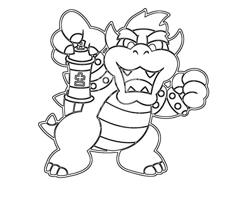 Dry bowser mario coloring pages sketch coloring page for Bowser jr coloring pages printable