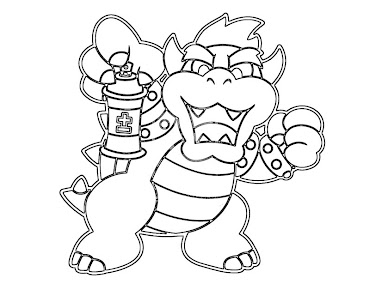 #10 Bowser Coloring Page