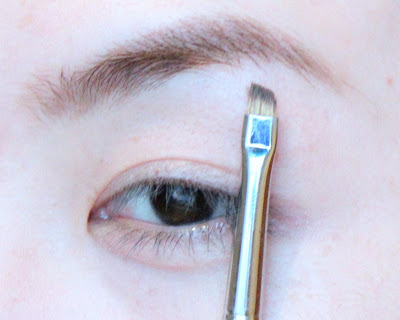 Suqqu Brow Powder 02 on Shu 6OB brush