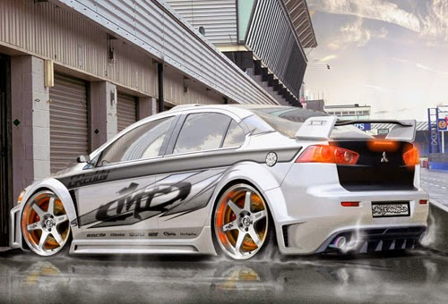 Modifikasi Mitsubishi Lancer  Evolution