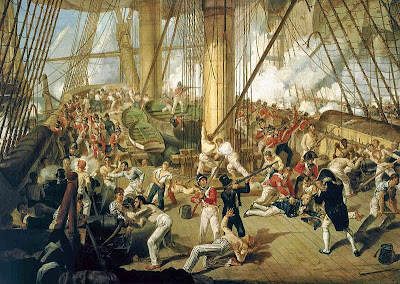 The Fall of Nelson, Battle of Trafalgar, 21 October 1805 by Denis Dighton, 1825