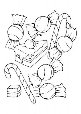 A Desenhar Caixa de bom bom doces    colorir