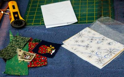 Библиопчелка мастер класс по созданию новогодней текстильной открытки