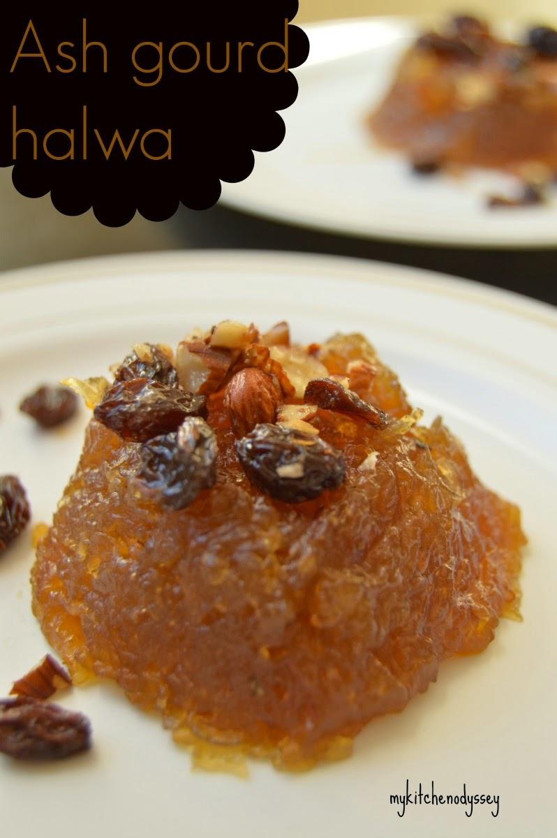 Ash gourd halwa ready