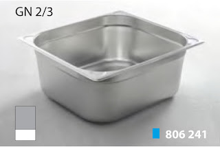Recipente Gastronomice. Accesorii pentru Dotari HoReCa, Tavi GN 2/3 Inox, Cuve GN2/3 Inox, Vaschete Gastronorm GN 2/3 Inox, Recipiente Inox pentru Bucatarii Profesionale, Pret