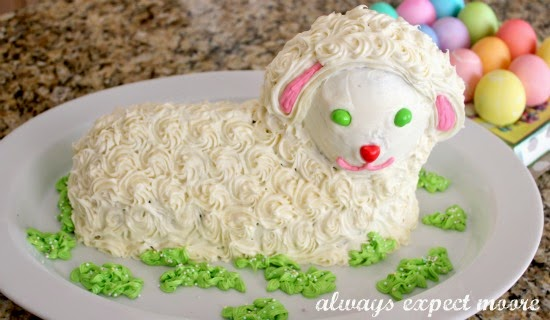 Easter lamb cake from always expect more