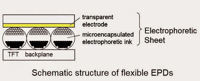 Schematic structure of flexible EPD