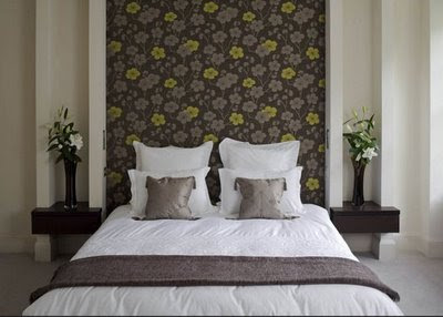Papel para paredes en peque os espacios decorando mejor - Papel pintado para cabeceros ...