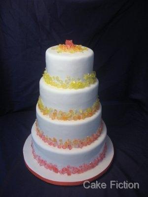 Cake Fiction Rock Candy Wedding Cake