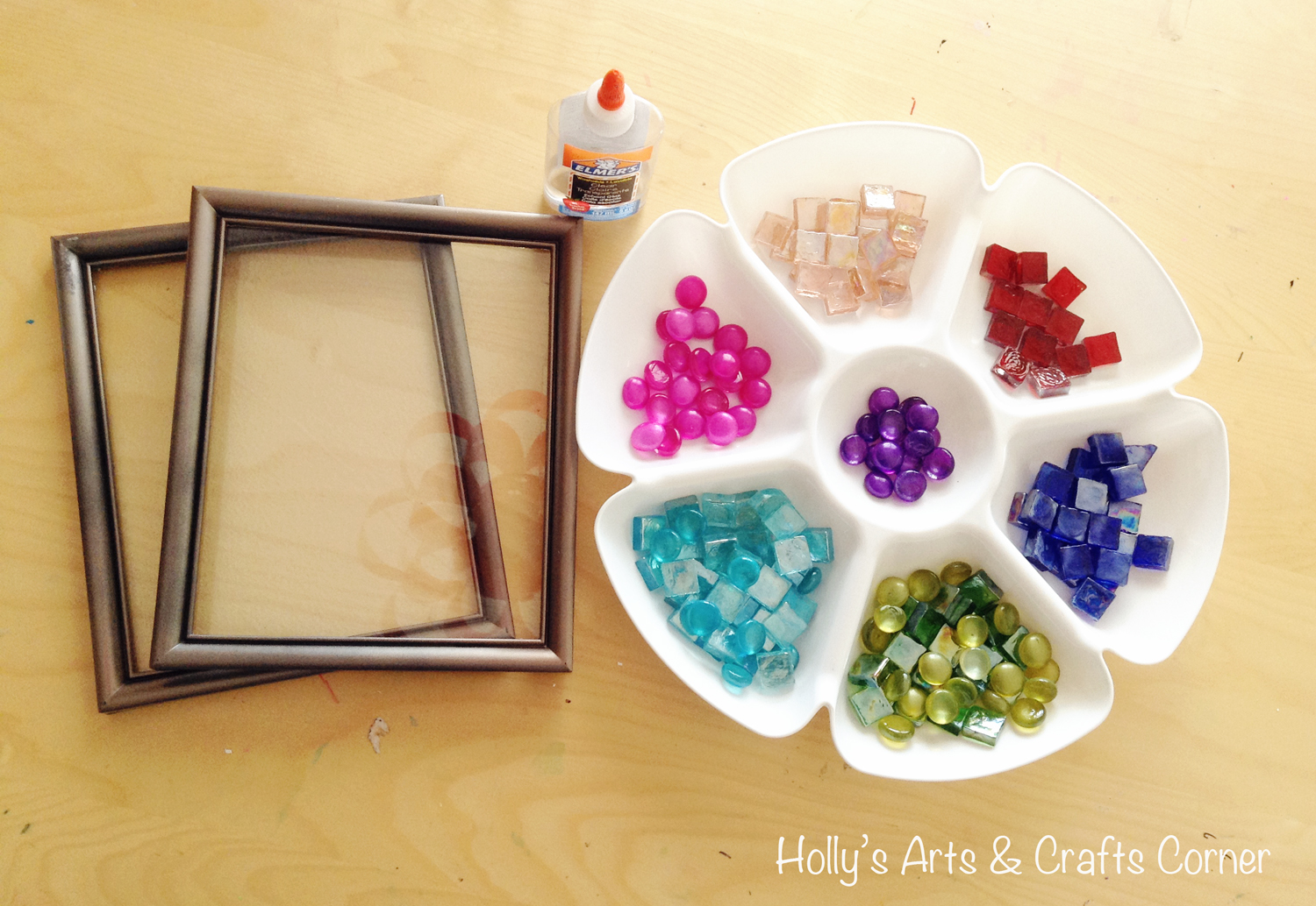 holly s arts and crafts corner craft project diy faux stained