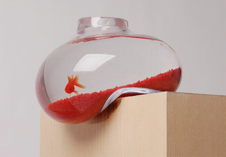 Creative Aquarium Designed By Psalt Looks Like It Is About To Fall Off The  Table. Bubble Tank Was Made To Provoke Reactions And Start Conversations.