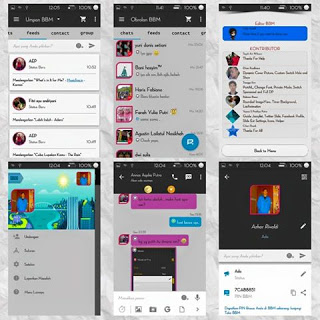 BBM Mod Simple Dark 2.9.0.45 Apk + Autotext/Bom PING