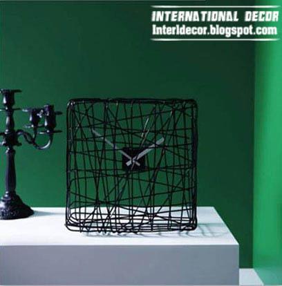 Black Table Clock   Modern Table Clock