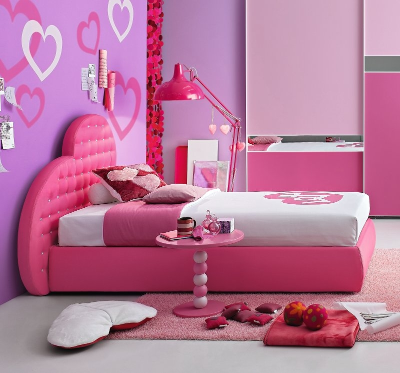 Dormitorios color rosa para adolescentes dormitorios con for Recamaras rosas