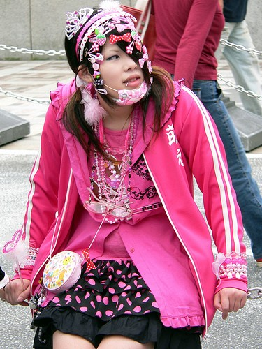 decora girls usually wear a lot of accessories pink the most and