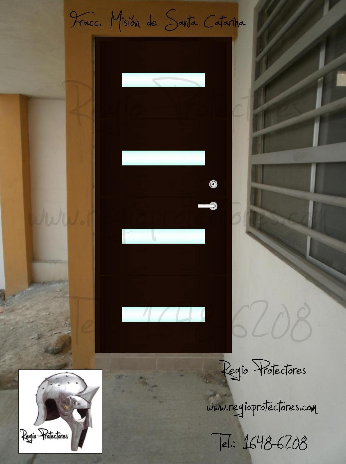 Regio protectores puerta principal contempor nea de for Puertas principales de fierro