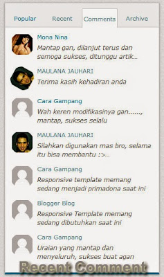 Majalah Blog Recent Comment Putar