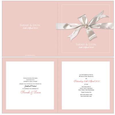 Pink Wedding Invitations 2
