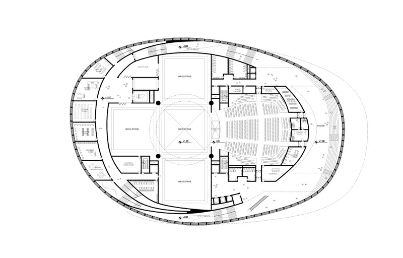 Busan Opera House Proposal By Praud Floor Plan