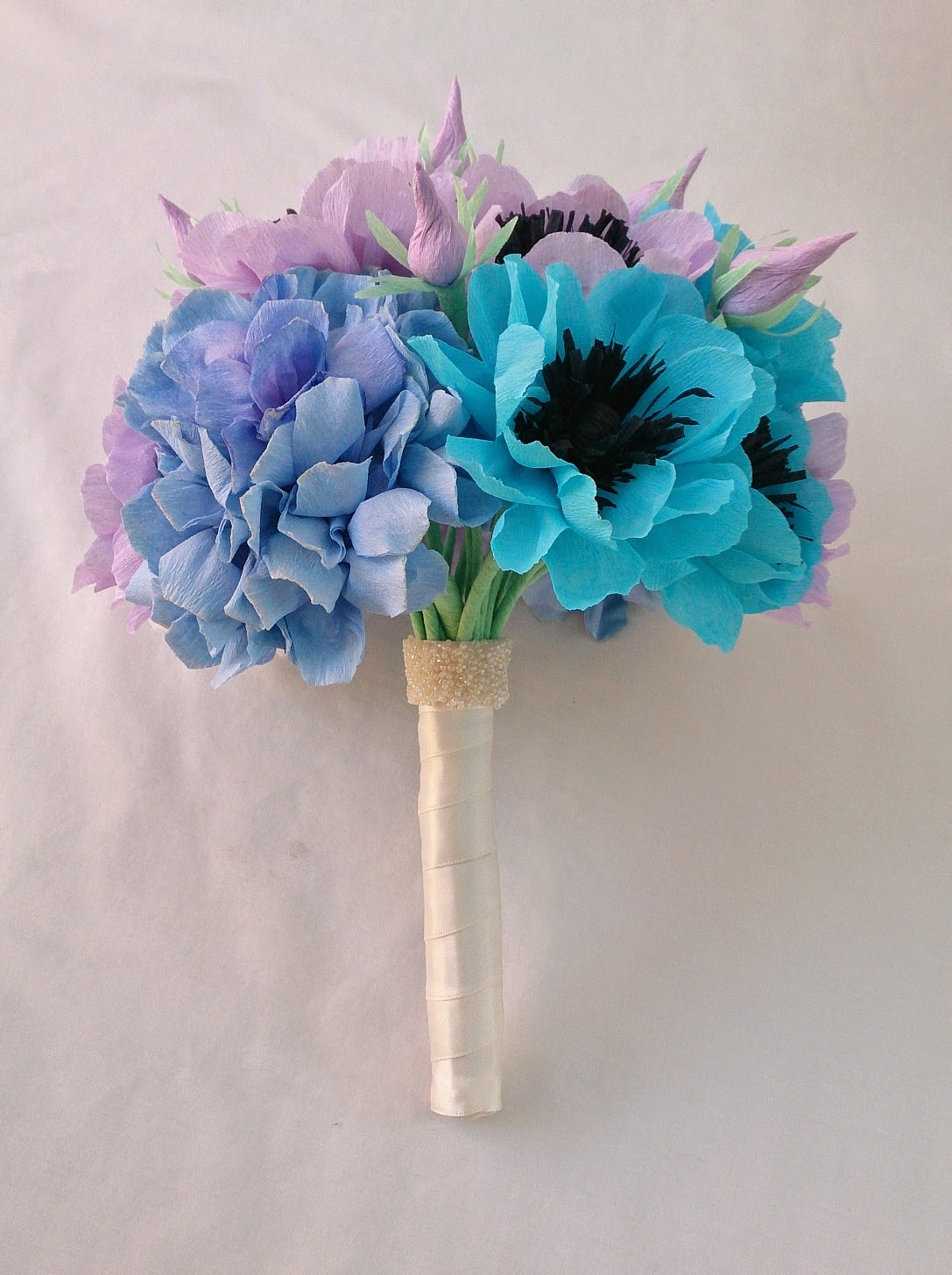 Crafty little Beanut!: Anemone and hydrangea paper flower bouquet ...