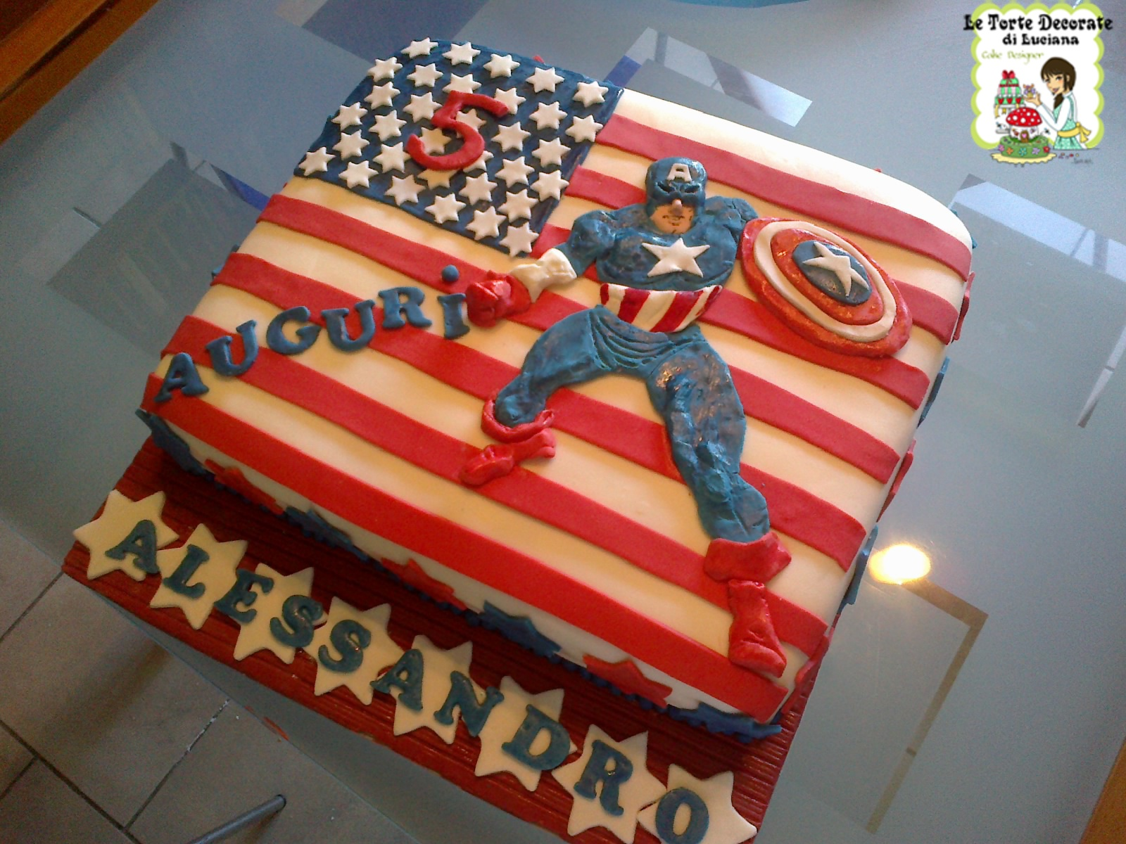 Torta Avengers Con Spiderman Y Capitán América Picture